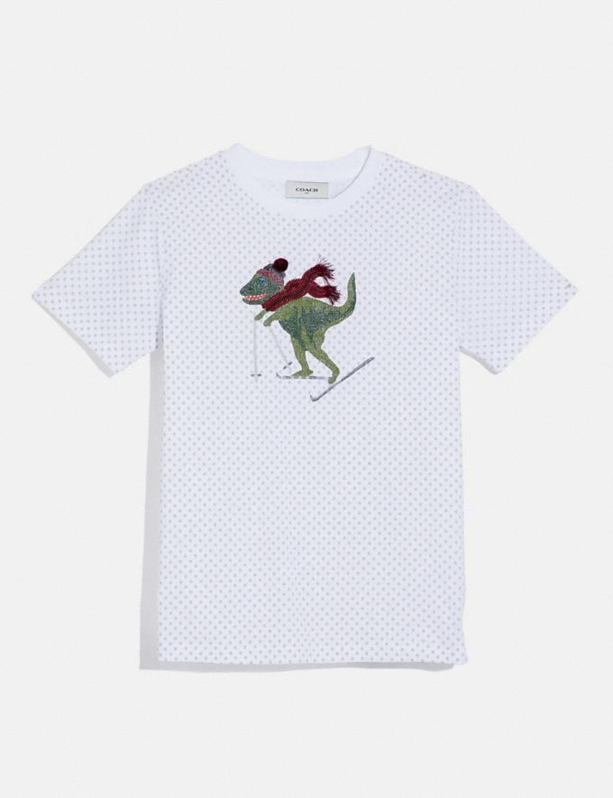Coach Rexy Dot T-Shirt White Women Ready-to-Wear Tops & T-shirts