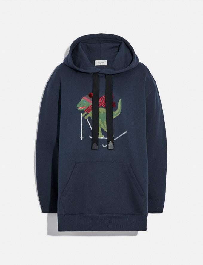 Coach Rexy Hoodie Navy Women Ready-to-Wear Tops & T-shirts