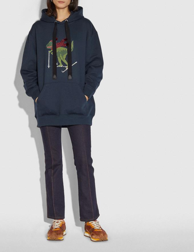 Coach Rexy Hoodie Navy  Alternate View 1
