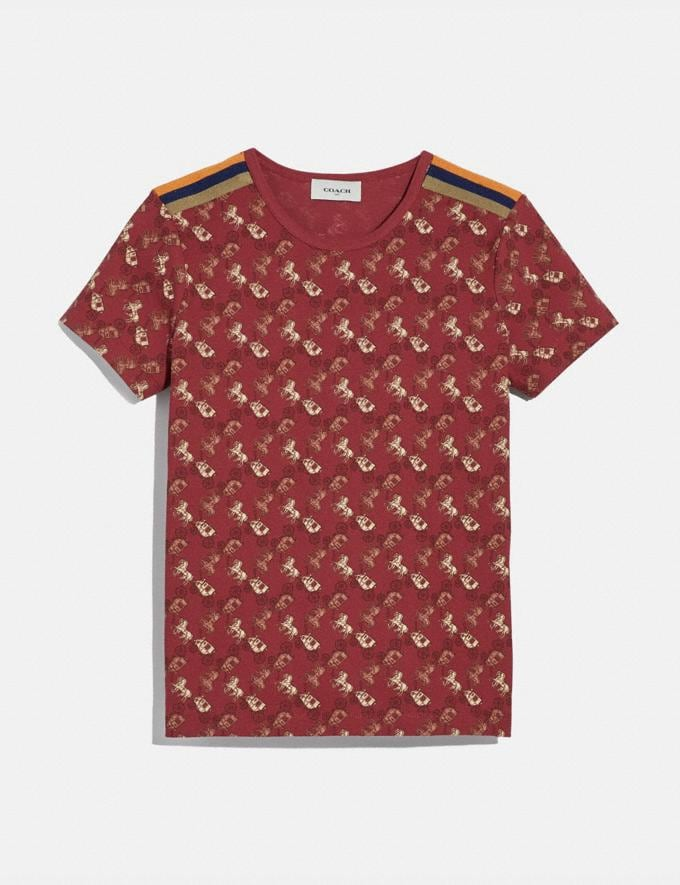 Coach Horse and Carriage Pique T-Shirt Red Women Ready-to-Wear Tops & T-shirts