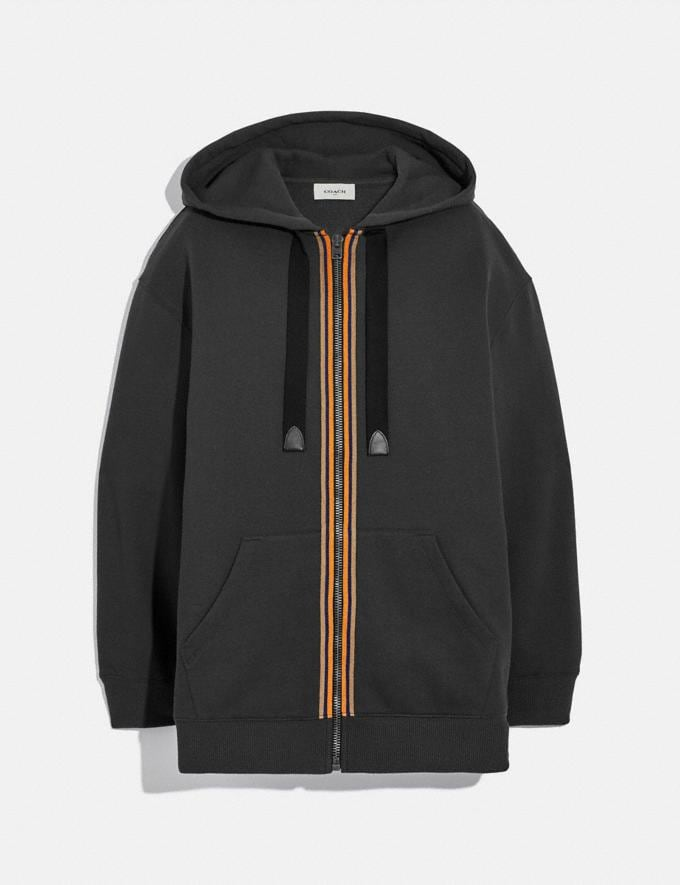 Coach Horse and Carriage Zip Hoodie Black New Women's New Arrivals