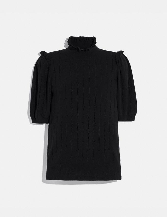 Coach Short Sleeve Turtleneck Charcoal Women Ready-to-Wear Knitwear & Sweatshirts