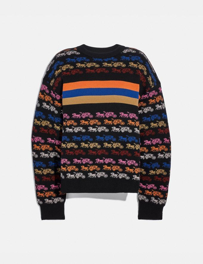 Coach Rainbow Horse and Carriage Crewneck Sweater Multi Women Ready-to-Wear Tops