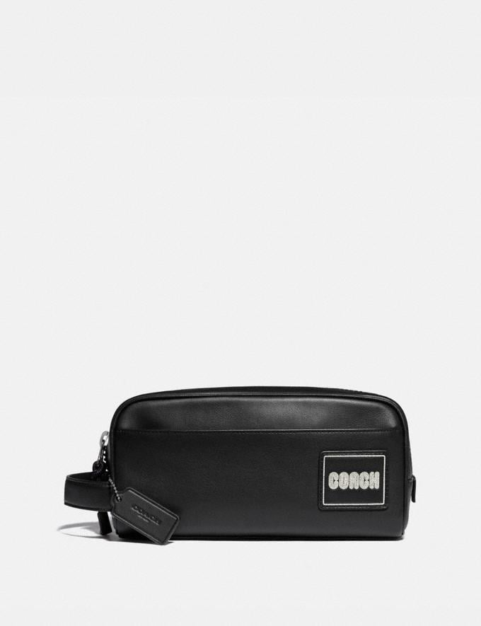 Coach Travel Kit With Coach Patch Black Gifts For Him Under $300