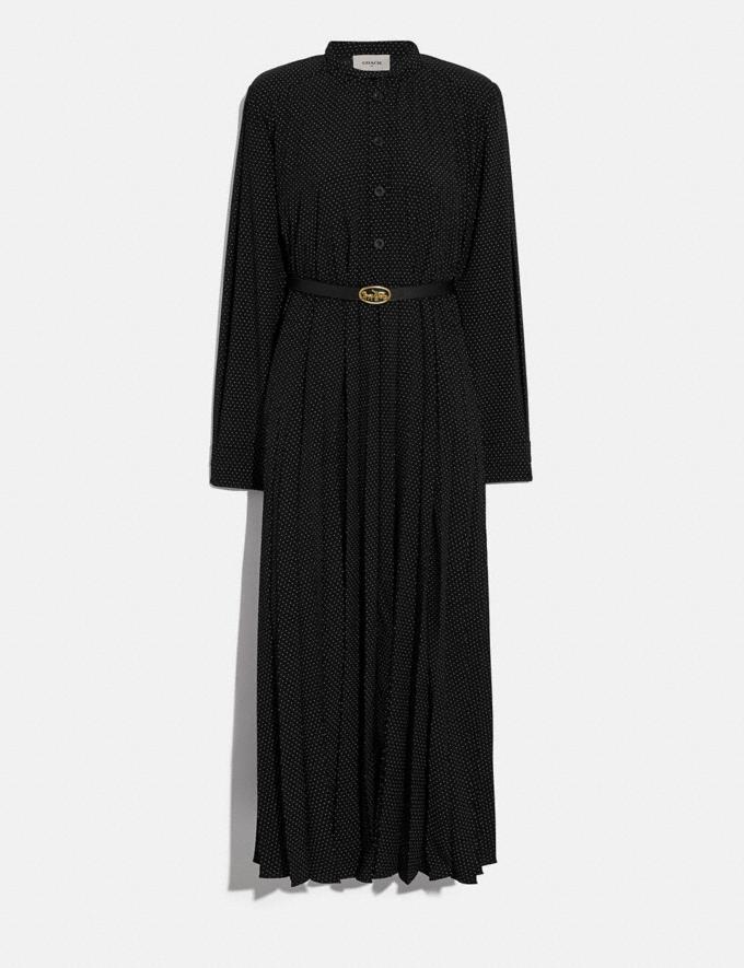 Coach Micro Dot Dress With Belt Black/Cream Women Ready-to-Wear Dresses