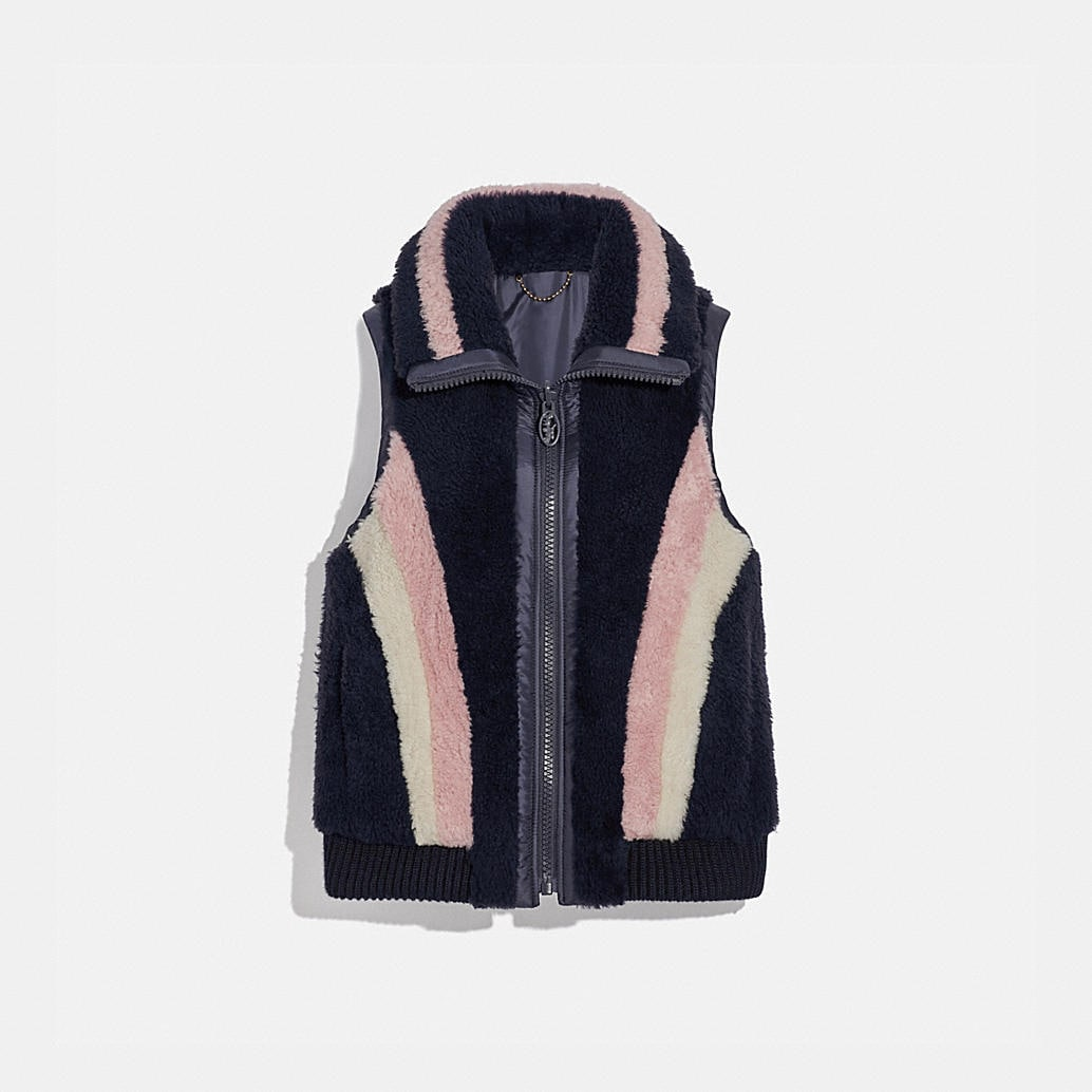 Reversible Shearling Vest by Coach