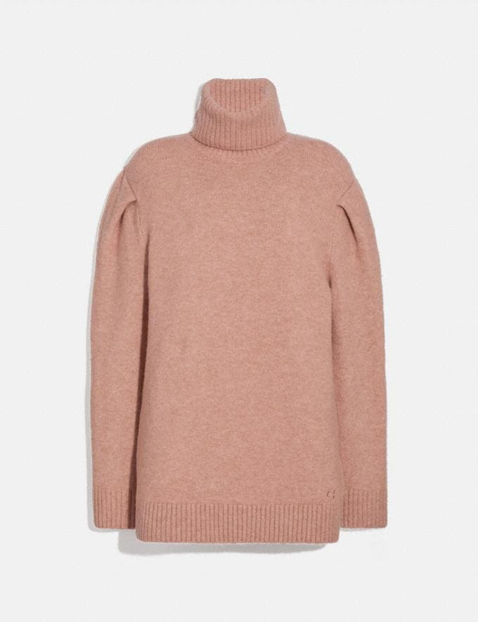 Coach Statement Sleeve Turtleneck Dusty Pink Women Ready-to-Wear Tops & T-shirts