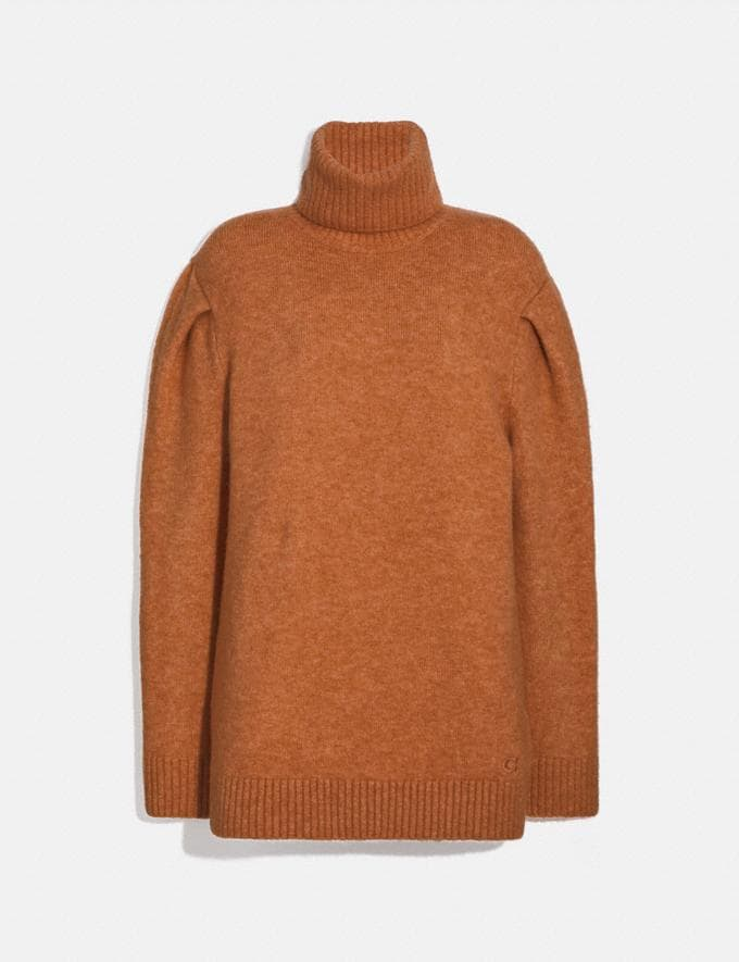Coach Statement Sleeve Turtleneck Rust Women Ready-to-Wear