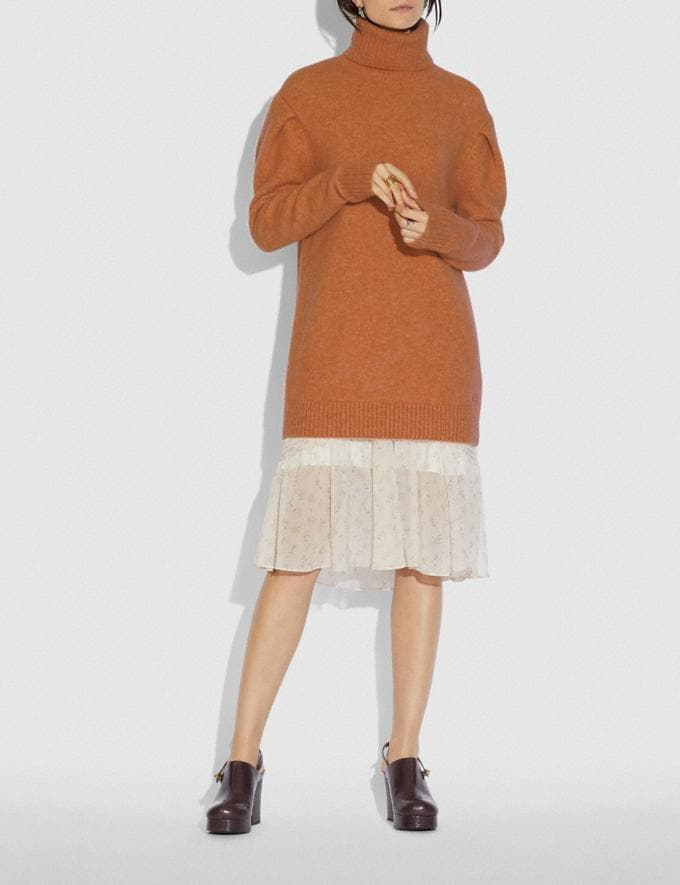 Coach Statement Sleeve Turtleneck Rust New Women's New Arrivals Ready-to-Wear Alternate View 1