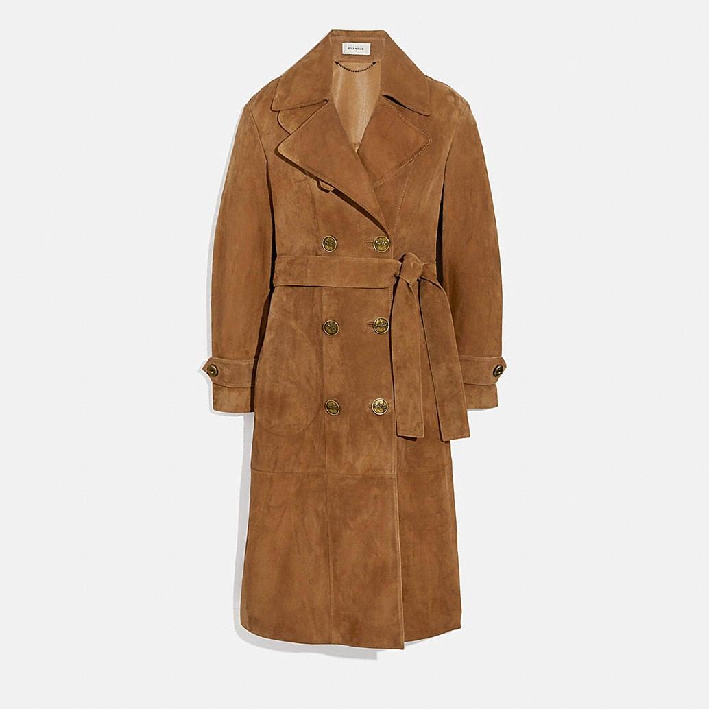 Coach Porcelain Short F34022 Belted Coat Size 12 (L) - Tradesy