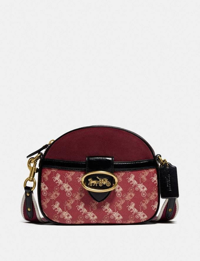 Coach Kat Crossbody Mit Pferdekutschenprint B4/Rot Tiefrot Multi Neu Kooperationen Horse and Carriage