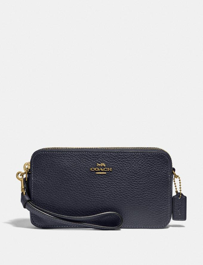 Coach Kira Crossbody B4/Midnight Navy Women Small Leather Goods Crossbody Wallets