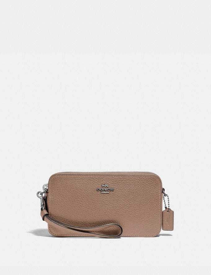 Coach Kira Crossbody Light Nickel/Taupe Gifts For Her Under $300