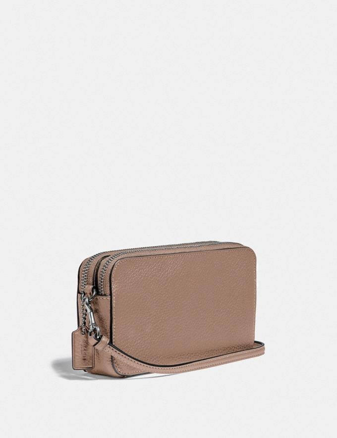 Coach Kira Crossbody Light Nickel/Taupe Gifts For Her Under $300 Alternate View 1