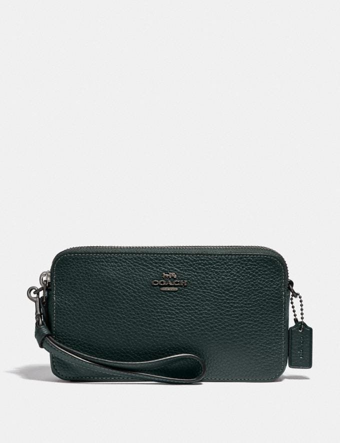 Coach Kira Crossbody V5/Pine Green Women Small Leather Goods Crossbody Wallets