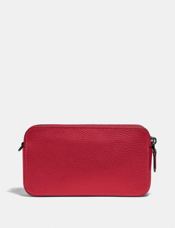 Coach Kira Crossbody Pewter/Red Apple Women Small Leather Goods Crossbody Wallets Alternate View 2