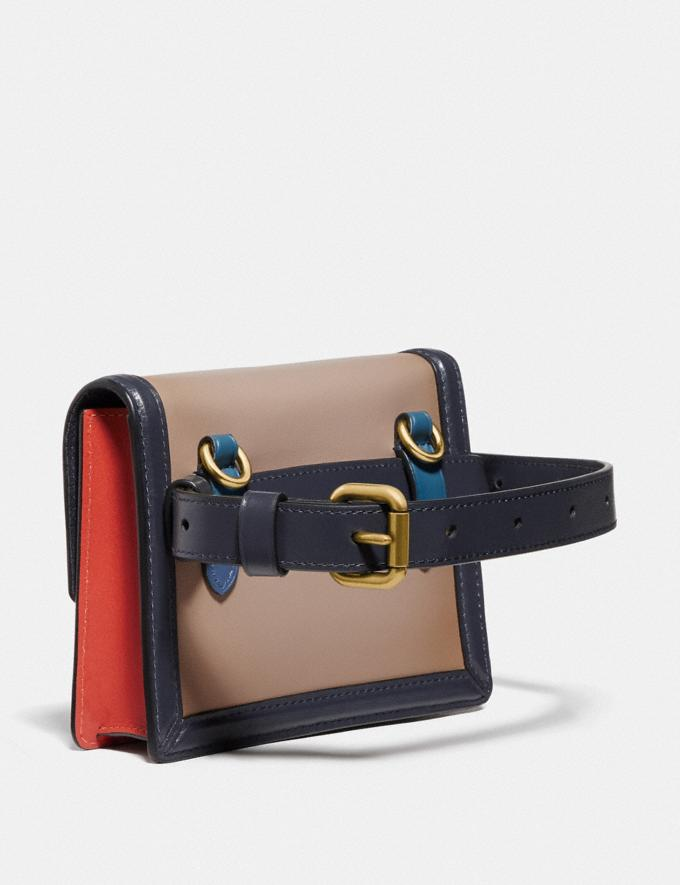 Coach Hutton Belt Bag in Colorblock Brass/Lake Multi New Women's New Arrivals View All Alternate View 1