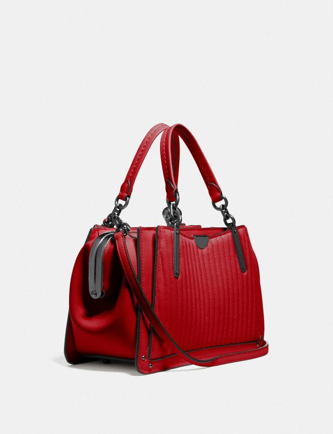 Coach Kisslock Dreamer 21 With Quilting and Rivets Pewter/Red Apple SALE Women's Sale Bags Alternate View 1
