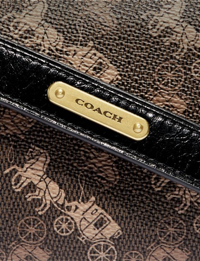 Coach Rivington Belt Bag 7 With Horse and Carriage Print and Varsity Stripe Brass/Black Brown Men Bags Belt Bags Alternate View 4