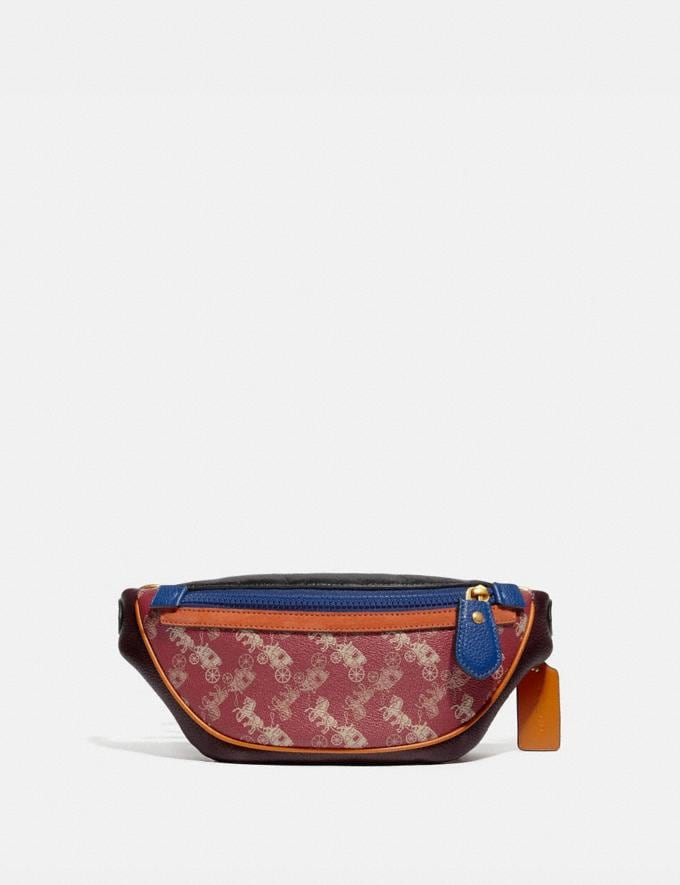 Coach Rivington Belt Bag 7 With Horse and Carriage Print Brass/Red Pink New Men's New Arrivals Collection