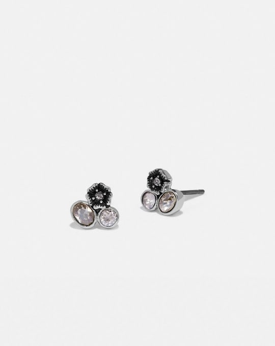 MINI TEA ROSE CLUSTER STUD EARRINGS