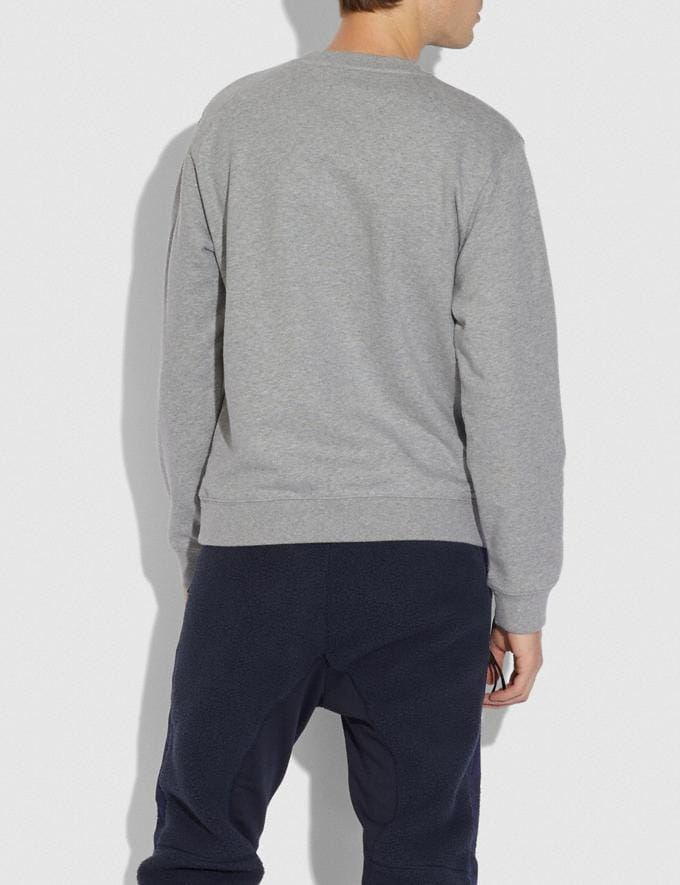 Coach Coach Sweatshirt Heather Grey New Men's New Arrivals Alternate View 2