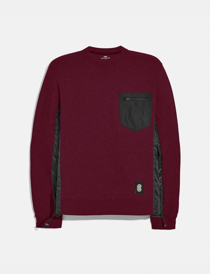 Coach Nylon Sweatshirt Wine/Black Men Ready-to-Wear Tops & Bottoms
