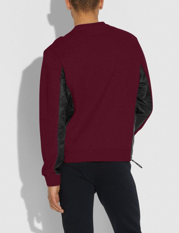 Coach Nylon Sweatshirt Wine/Black Men Ready-to-Wear Tops & Bottoms Alternate View 2