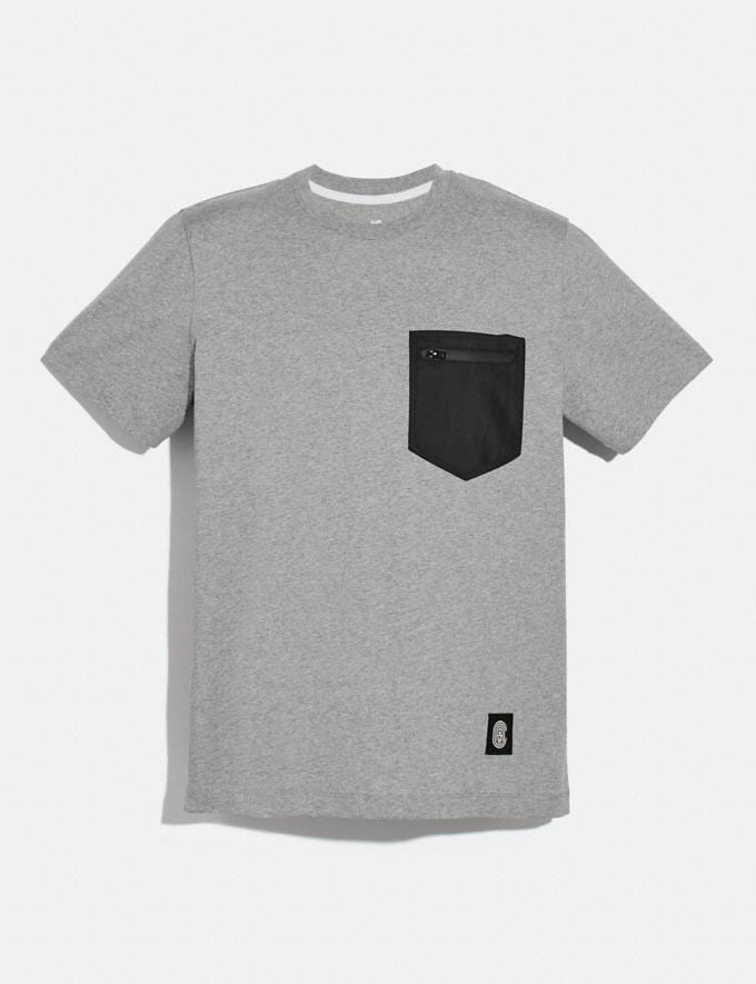 Coach Nylon T-Shirt Heather Grey/Black