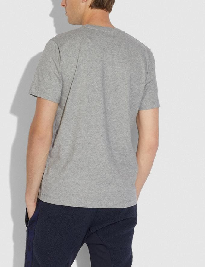Coach Nylon T-Shirt Heather Grey/Black  Alternate View 2