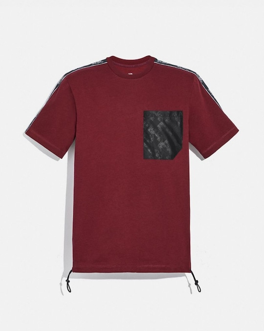 HORSE AND CARRIAGE POCKET T-SHIRT