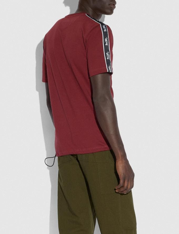 Coach Horse and Carriage Pocket T-Shirt Burgundy Men Ready-to-Wear Tops & Bottoms Alternate View 2