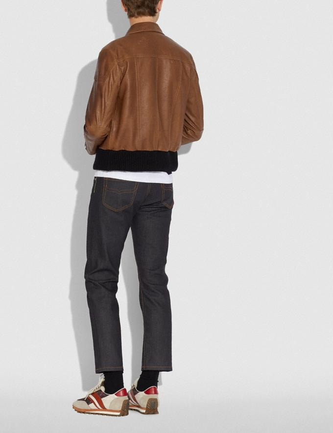 Coach Leather Biker Jacket Doe New Men's New Arrivals Collection Alternate View 2