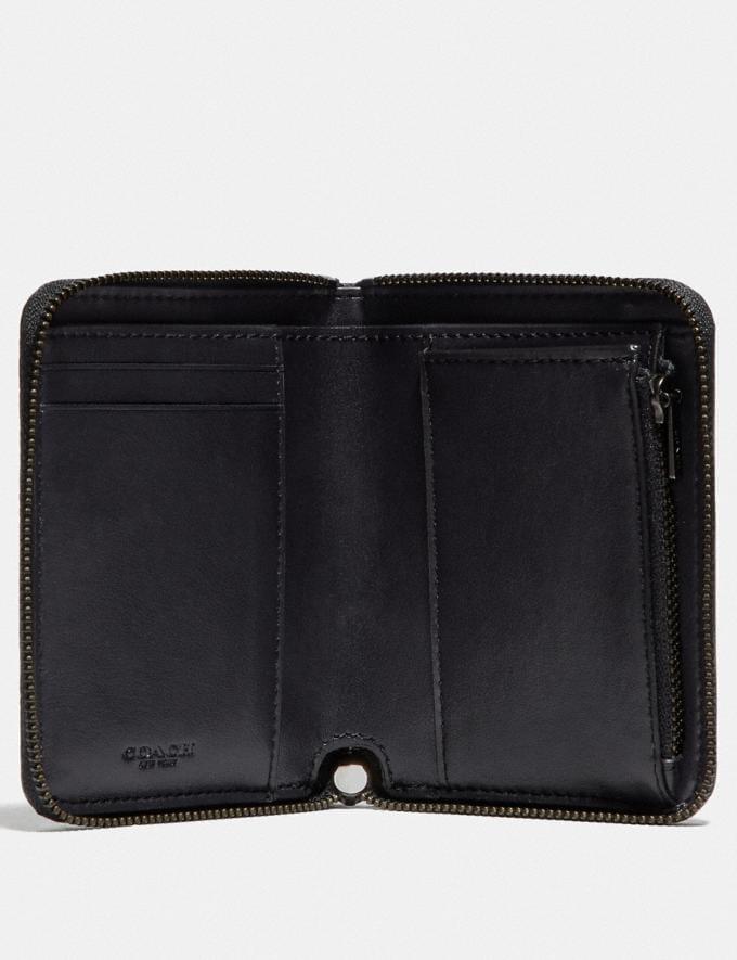 Coach Small Zip Around Wallet With Bonesy Gunmetal/Black Women Wallets & Wristlets Small Wallets Alternate View 1