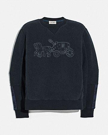 horse and carriage fleece sweatshirt