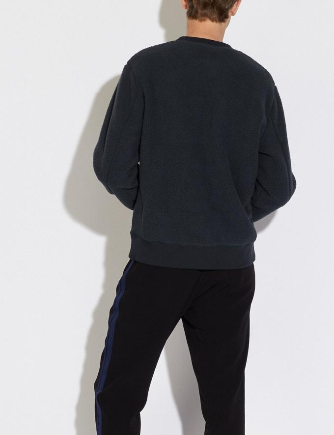 Coach Horse and Carriage Fleece Sweatshirt Deep Navy Men Ready-to-Wear Tops & Bottoms Alternate View 2