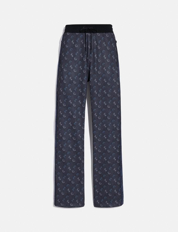 Coach Horse and Carriage Print Track Pants Blue/Black