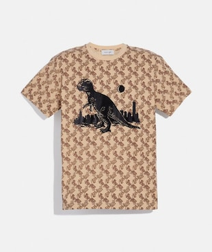 HORSE AND CARRIAGE PRINT REXY IN THE CITY T-SHIRT