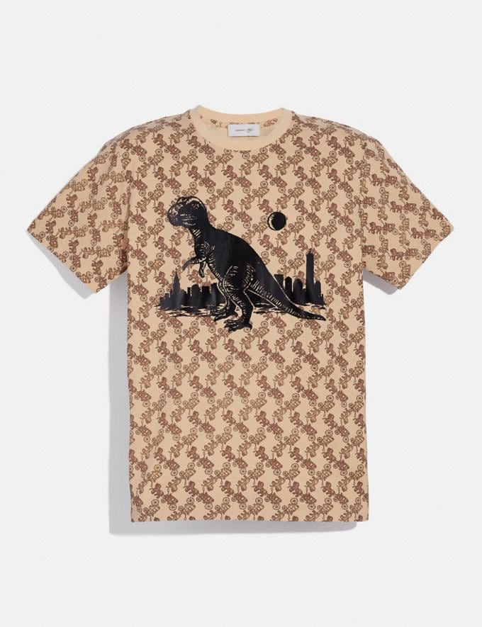 Coach Horse and Carriage Print Rexy in the City T-Shirt Camel New Men's New Arrivals Ready-to-Wear