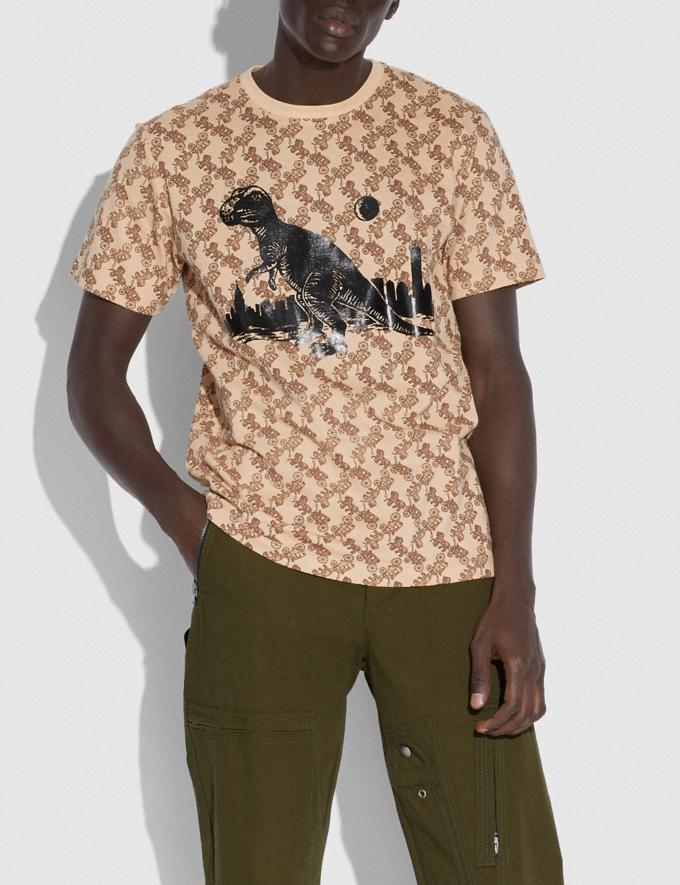 Coach T-Shirt Roxy in the City Mit Pferdekutschenprint Kamelhaar Neu Inspirationen Horse and Carriage Alternative Ansicht 1