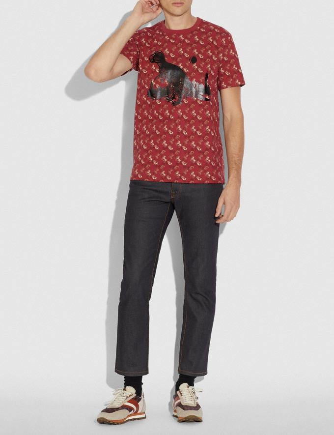 Coach Horse and Carriage Print Rexy in the City T-Shirt Red/Pink Men Ready-to-Wear Tops & Bottoms Alternate View 1
