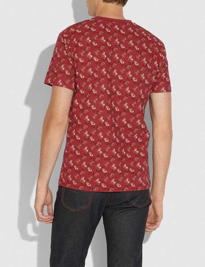 Coach Horse and Carriage Print Rexy in the City T-Shirt Red/Pink Men Ready-to-Wear Tops & Bottoms Alternate View 2