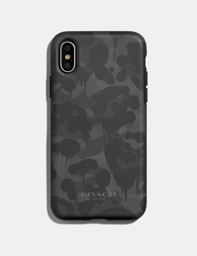 Coach iPhone X/Xs Case With Wild Beast Print Black Women Accessories Tech & Travel