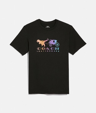 RAINBOW REXY AND CARRIAGE T-SHIRT