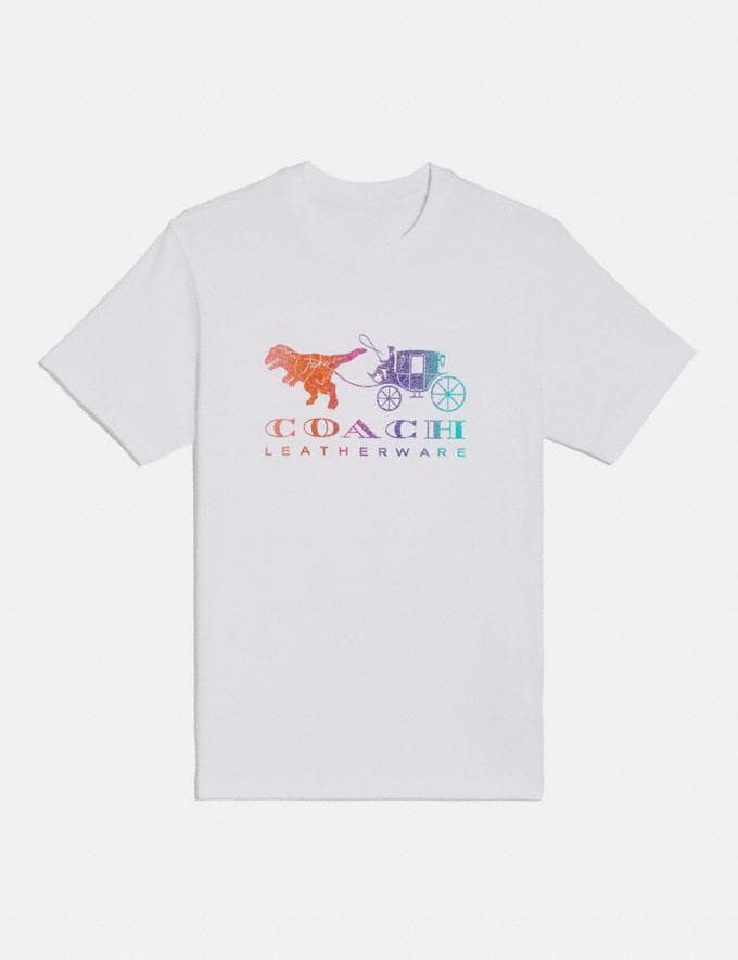 Coach Rainbow Rexy and Carriage T-Shirt White Women Ready-to-Wear Tops