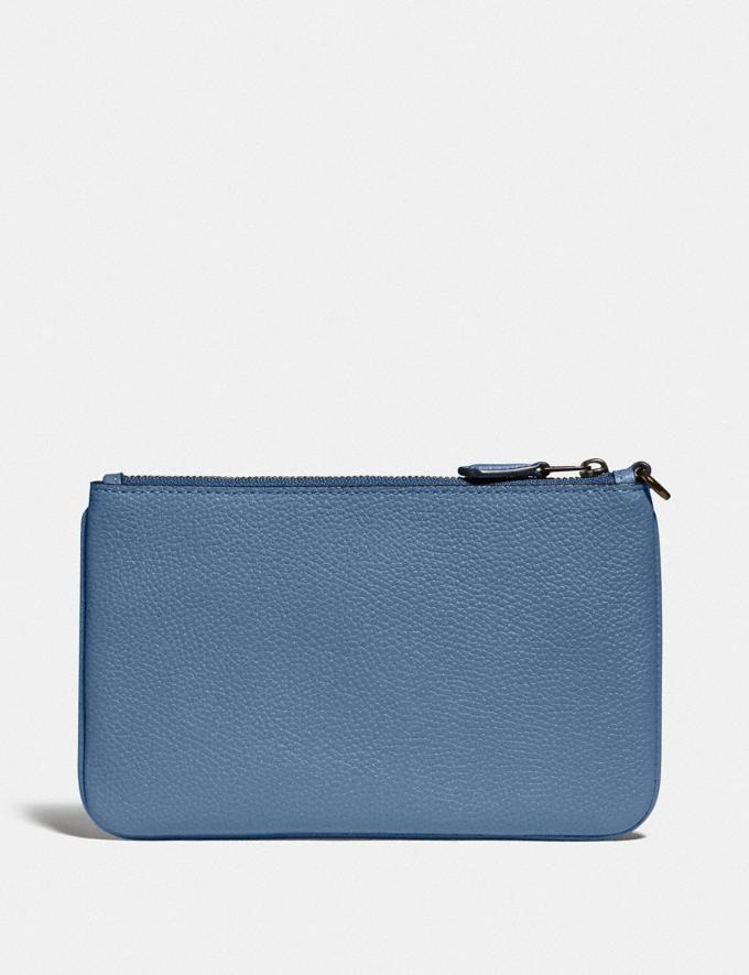Coach Small Wristlet With Rexy and Carriage Pewter/Stone Blue New Featured Rexy Collection Alternate View 1