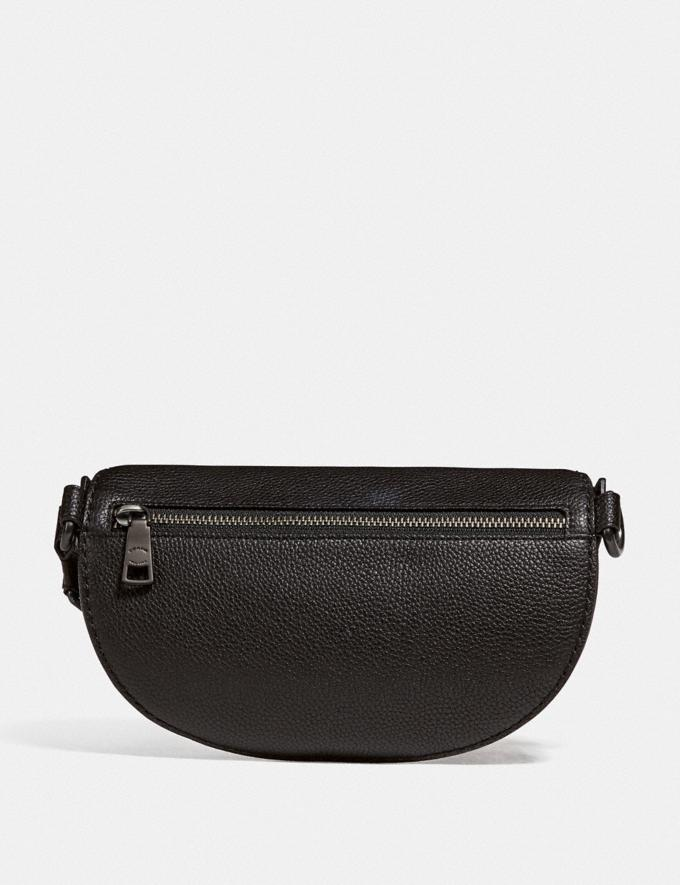 Coach Belt Bag With Rexy and Carriage Pewter/Black New Featured Rexy Collection Alternate View 2