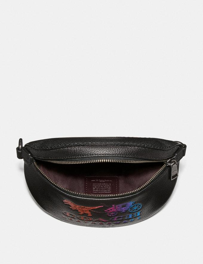 Coach Belt Bag With Rexy and Carriage Pewter/Black New Featured Rexy Collection Alternate View 3