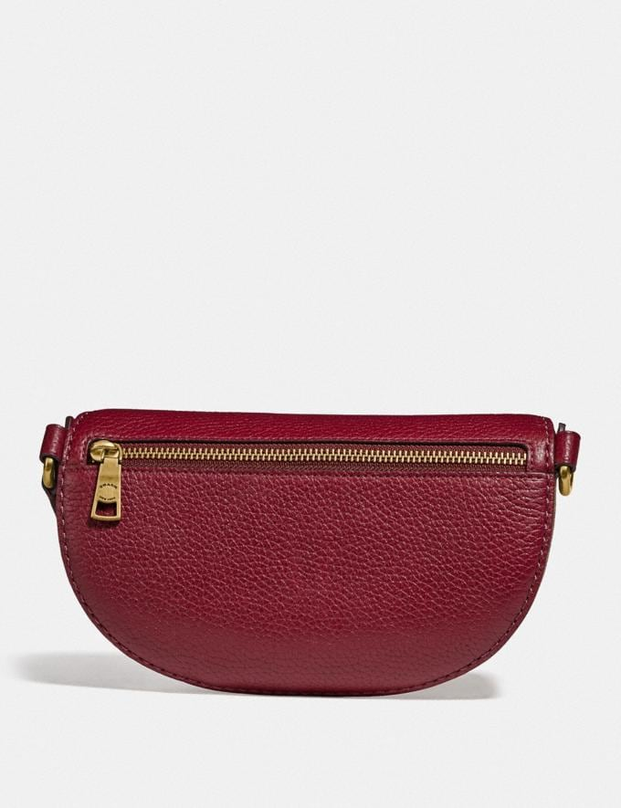 Coach Belt Bag in Signature Canvas With Rexy and Carriage Brass/Tan Deep Red New Featured Rexy Collection Alternate View 2