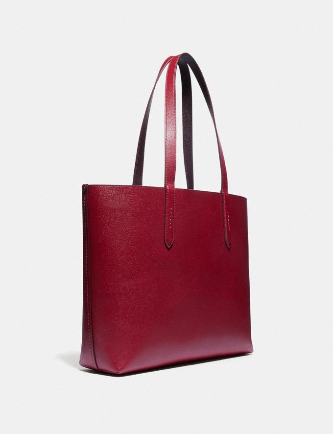 Coach Highline Tote With Rexy and Carriage Brass/Deep Red Multi Women Handbags Diaper Bags Alternate View 1